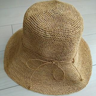 ムジルシリョウヒン(MUJI (無印良品))の無印良品 ラフィア 帽子 つば広 57.5cm(麦わら帽子/ストローハット)