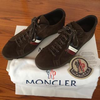 モンクレール(MONCLER)のモンクレール スエードレザー  スニーカー サイズ41(スニーカー)