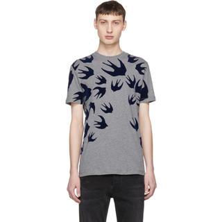 アレキサンダーマックイーン(Alexander McQueen)のMcQ Alexander McQueen グレー スワロー Tシャツ(シャツ)