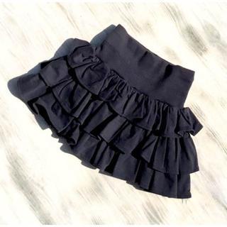 韓国子供服 フリルスカート WBU083(スカート)