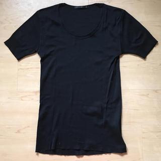 アトウ(ato)のato アトウ カットソー シャツ メンズ ブラック(Tシャツ/カットソー(半袖/袖なし))