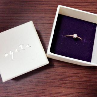 アガット(agete)のagete 1粒ダイヤリング(リング(指輪))