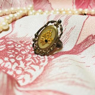 グリモワール(Grimoire)のヴィンテージ風 リング 指輪 バタフライ 蝶 蝶々 ゴールド レディース(リング(指輪))