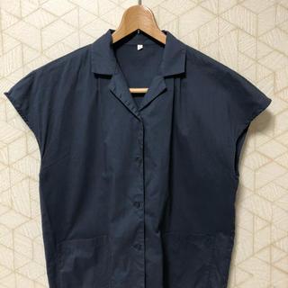ムジルシリョウヒン(MUJI (無印良品))のムジラボMUJI LABO 開襟フレンチスリーブシャツ 着用あり(シャツ/ブラウス(半袖/袖なし))