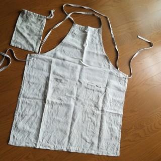 ムジルシリョウヒン(MUJI (無印良品))の無印 リネンエプロン 巾着付(その他)