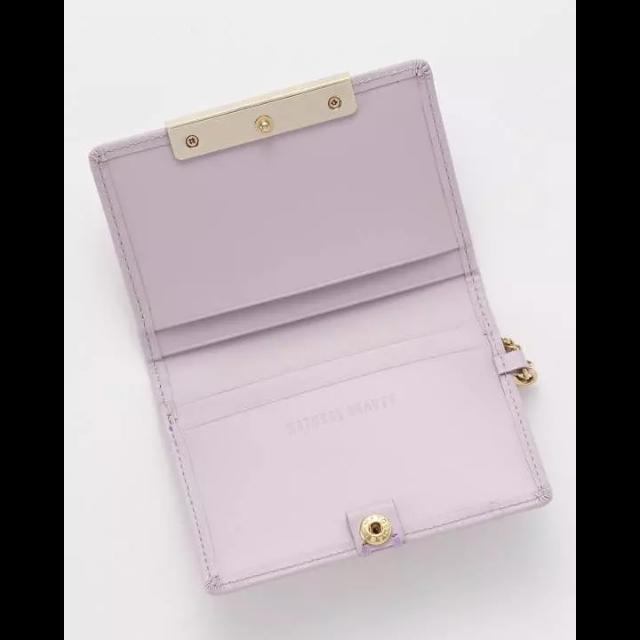 3db952618d7e NATURAL BEAUTY(ナチュラルビューティー)の本革 パスケース カードケース チェーンストラップ付き