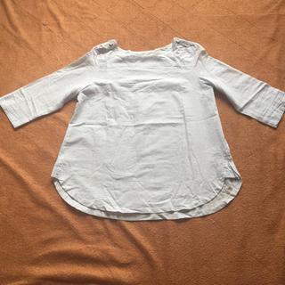 ムジルシリョウヒン(MUJI (無印良品))の☆コットン100%7部袖カットソー☆(カットソー(長袖/七分))