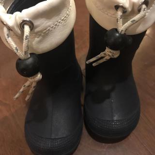 ムジルシリョウヒン(MUJI (無印良品))の無印 レインブーツ 12〜13 ネイビー(長靴/レインシューズ)