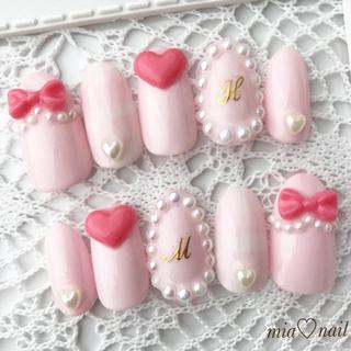 ゆめかわいい〜ピンクカラーの3dネイル