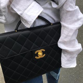 シャネル(CHANEL)のCHANEL vintage satin briefcase black(その他)