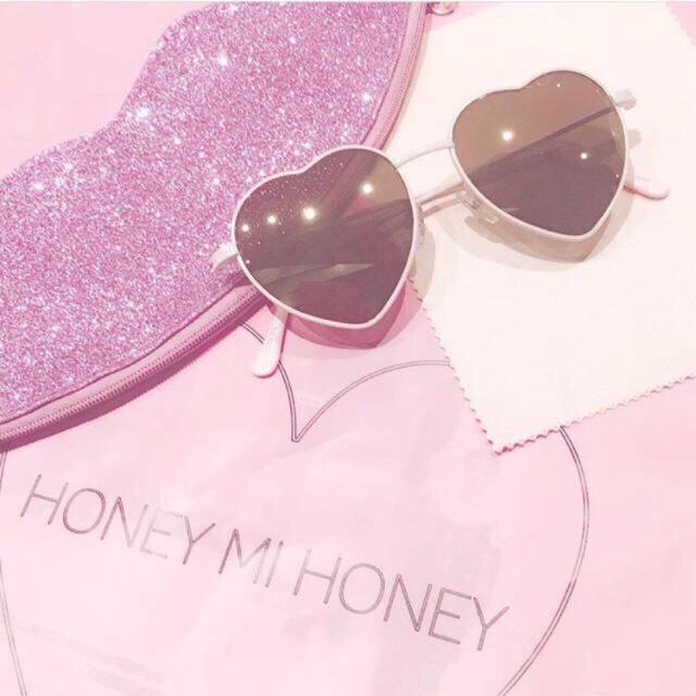 Honey mi Honey(ハニーミーハニー)のハニーミーハニー♡ハートサングラス レディースのファッション小物(サングラス/メガネ)の商品写真