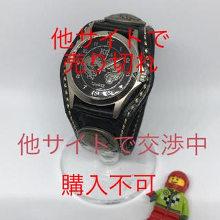 ケイシイズ(KC,s)の【状態△】No6☆KC's☆チチカカ☆黒ブラック☆腕時計(腕時計(アナログ))