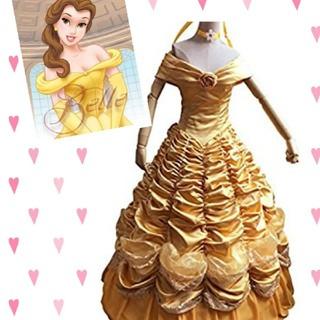 Disney - ベル ドレス 衣装 仮装 美女と野獣 ハロウィン プリンセス