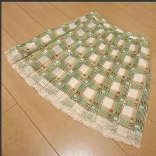 デビュードフィオレ(Debut de Fiore)のデビュードフィオレ チェックのプリーツスカート(ひざ丈スカート)