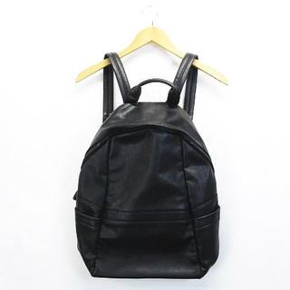ザラ(ZARA)のザラマン リュック バックパック 鞄 フェイクレザー ブラック(バッグパック/リュック)