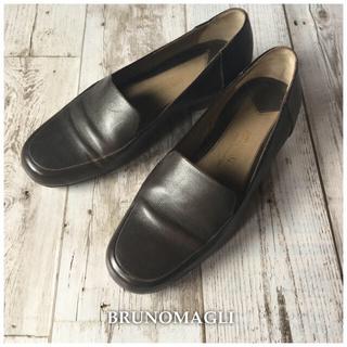 ブルーノマリ(BRUNOMAGLI)のBRUNOMAGLI☆イタリア製ローファー 革靴 ブラウン(ローファー/革靴)