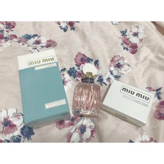 ミュウミュウ(miumiu)の早いもの勝ち!miumiu香水&ミラー❤︎(香水(女性用))
