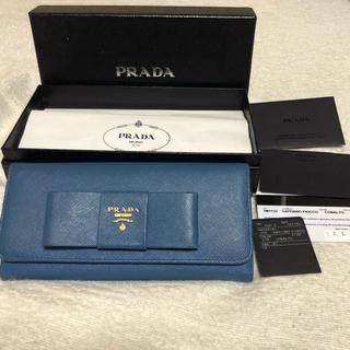 プラダ(PRADA)のPRADA プラダ  SAFFIANO FIOCCO リボン付き長財布 (財布)