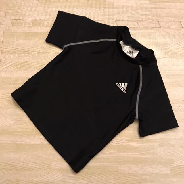 adidas(アディダス)の【サイズ110】adidas アディダス ラッシュガード 黒 ベビー用② キッズ/ベビー/マタニティのキッズ服 男の子用(90cm~)(水着)の商品写真