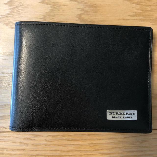 hot sale online 97107 86afb バーバリーブラックレーベル 二つ折り財布 | フリマアプリ ラクマ