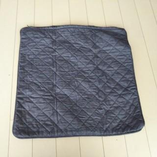 ムジルシリョウヒン(MUJI (無印良品))の無印良品 2枚セット キルティングデニム クッションカバー(クッションカバー)