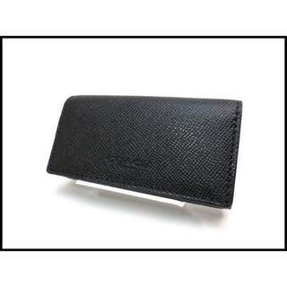 コーチ(COACH)のCOACH コーチ レザー 4連 キーケース F59107 黒 未使用品(キーケース)