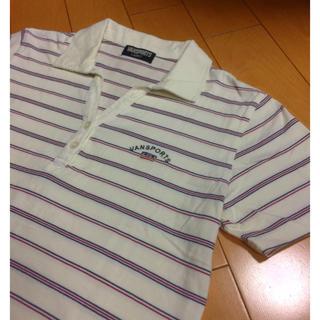 ヴァンヂャケット(VAN Jacket)のVANオフホワイトボーダーコットンポロ(ポロシャツ)