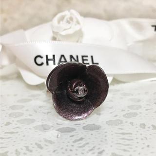 シャネル(CHANEL)の正規品 シャネル 指輪 花 シルバー ココマーク リング フラワー パープル 銀(リング(指輪))
