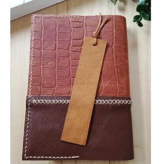 革のしおり タンニン革 Brown Bookmark ブックマーカー(しおり/ステッカー)