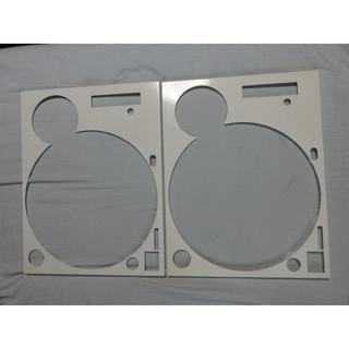 technics ターンテーブル 1200シリーズ用デッキカバー(白)set(ターンテーブル)