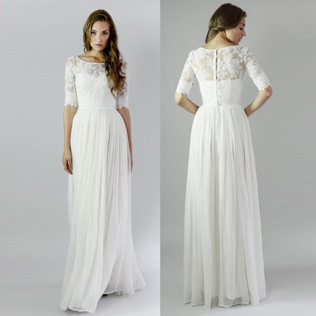 5a5712760b517 ウェディングドレス シンプルタイプ 新品 レディースのフォーマル ドレス(ウェディングドレス)の商品