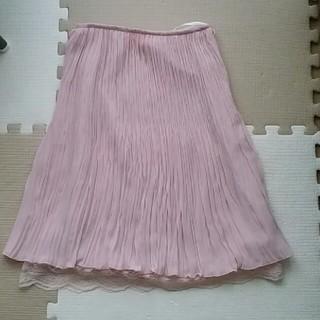 ハニーズ(HONEYS)のピンク色スカート(ひざ丈スカート)