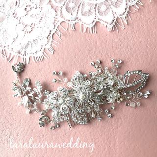 ロングセラー リーフとお花のヘッドドレス(ウェディングドレス)