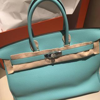 エルメス(Hermes)のエルメスバーキン35  ブルーアトゥール(ハンドバッグ)