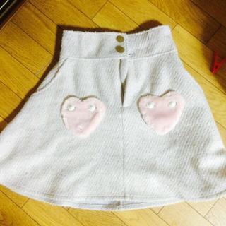 リズリサ(LIZ LISA)の未使用タグ付きリズリサハートスカート(ひざ丈スカート)