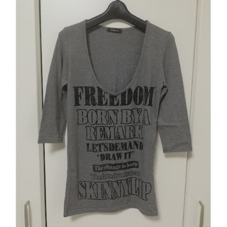 スキニーリップ 七分袖シャツ
