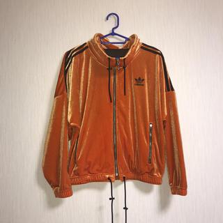 アディダス(adidas)の Adidas トラックジャージ ベロア オレンジ(その他)