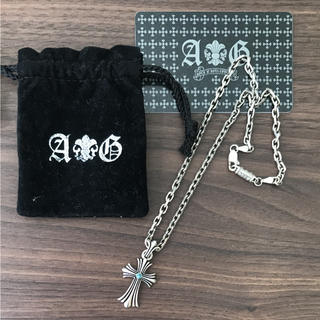 エーアンドジー(A&G)の正規品 A&G シルバーネックレス 925製 ブルーダイヤ(ネックレス)