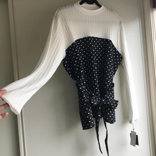 シマムラ(しまむら)のひかりさん  専用新品タグ付き リボン付きトップス(Tシャツ(長袖/七分))
