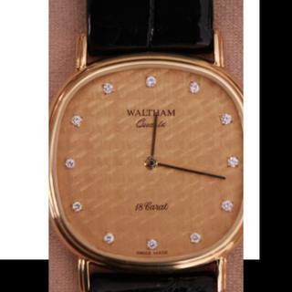 ウォルサム(Waltham)の☆Waltham18Carat Solid Gold12P Dia Watch☆(腕時計(アナログ))