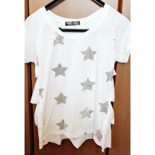スパンコール☆オシャレTシャツ(Tシャツ/カットソー)
