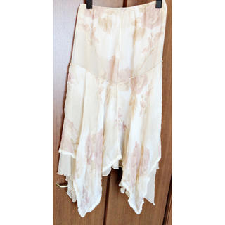フランス製 フレアスカート(ひざ丈スカート)