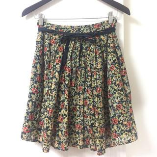 デミルクスビームス(Demi-Luxe BEAMS)のAMBALI 花柄スカート(ひざ丈スカート)