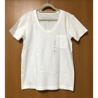 ムジルシリョウヒン(MUJI (無印良品))のオーガニックコットンムラ糸Vネック半袖Tシャツ(Tシャツ(半袖/袖なし))