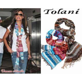 トラニ(Tolani)のハリウッドセレブ愛用 tolani ストール(ストール/パシュミナ)