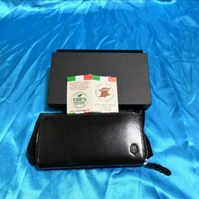 54f908926046 Bianchi - イタリア製本革ビアンキ長財布黒 未使用品の通販 by nen's ...