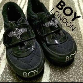ボーイロンドン(Boy London)の15cm◾︎BIGBANG愛用ブランド BOY LONDONスニーカー◾︎黒韓流(スニーカー)