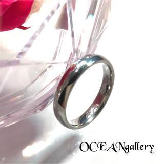 送料無料 24号 シルバー サージカルステンレス シンプル甲丸リング 指輪(リング(指輪))