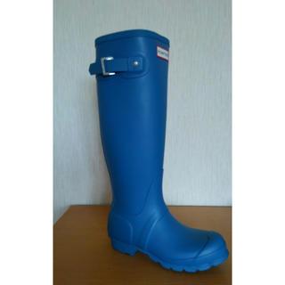 ハンター(HUNTER)のレインブーツ 長靴 ハンター レディース キッズ 22 22.5 新品 ブルー (レインブーツ/長靴)