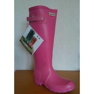 ハンター(HUNTER)のレインブーツ 長靴 ハンター レディース キッズ 22 22.5 新品 ピンク (レインブーツ/長靴)